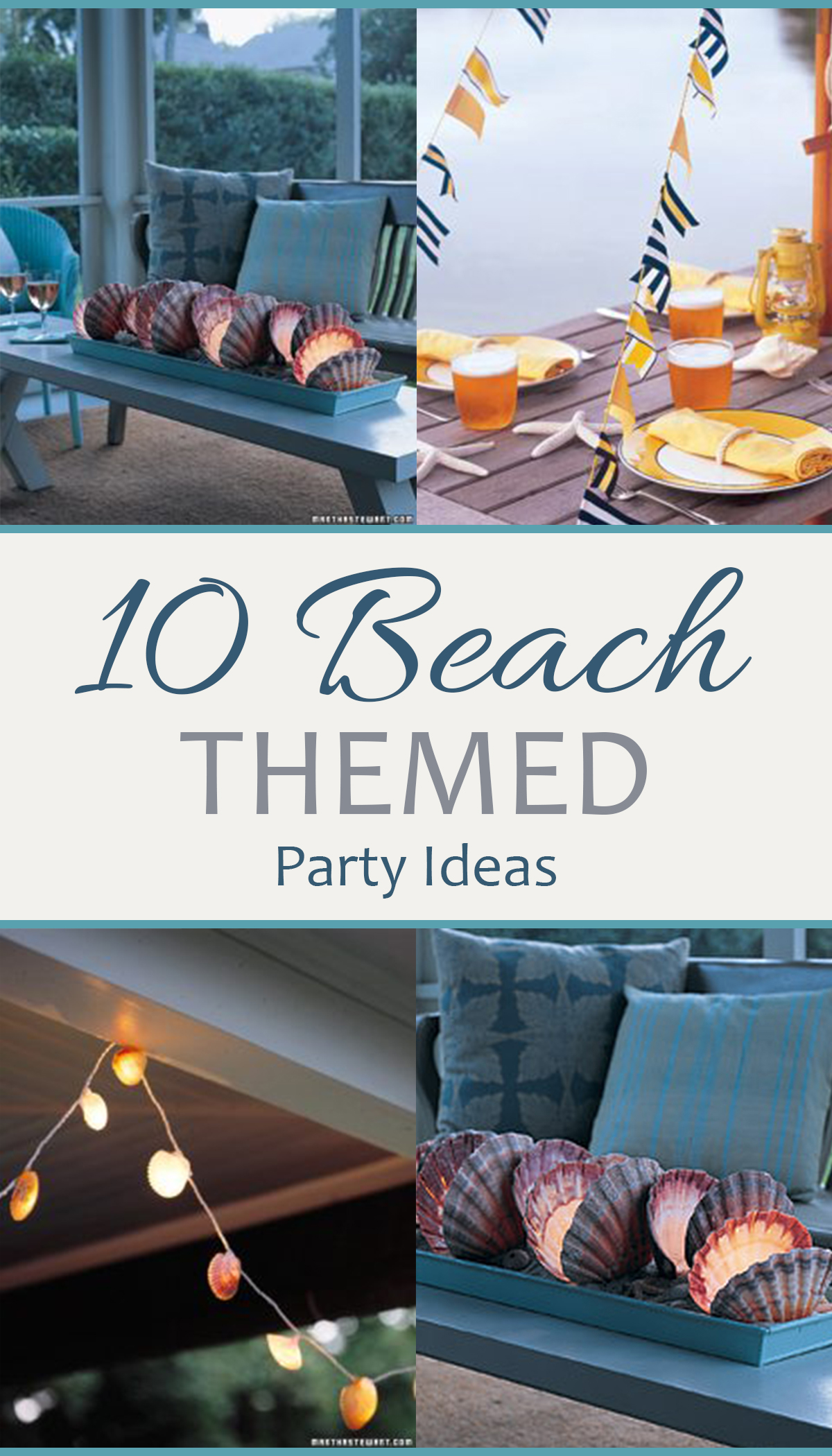 Beach Themed Party Ideas, Beach Party Ideas, Coastal Parties, Outdoor Party Tips and Tricks, How to Throw a Party, Party Hacks, Party Decor Ideas, Popular Pin
