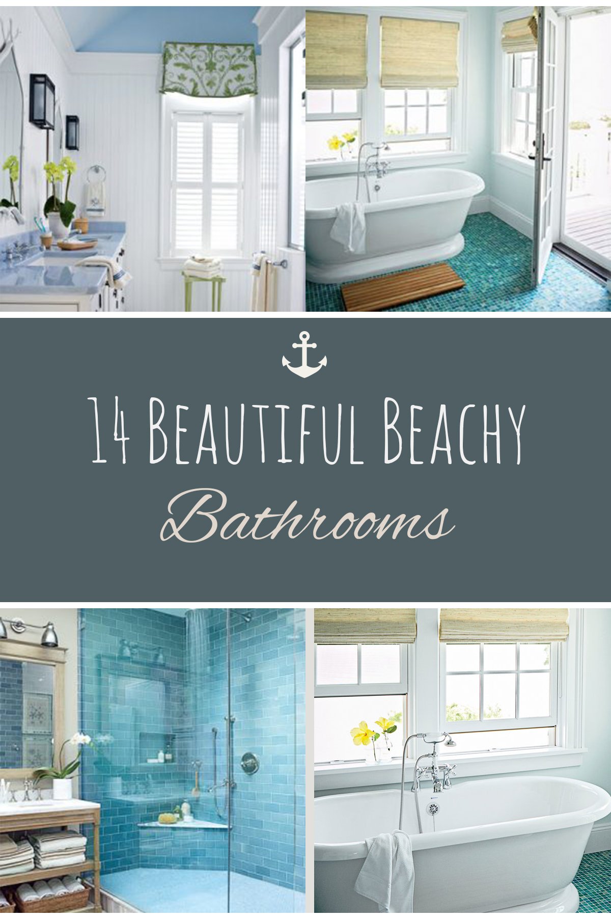 Beach Themed Decor, Beach Themed Home Decor, Beachy Bathrooms, DIY Bathroom,  Bathroom