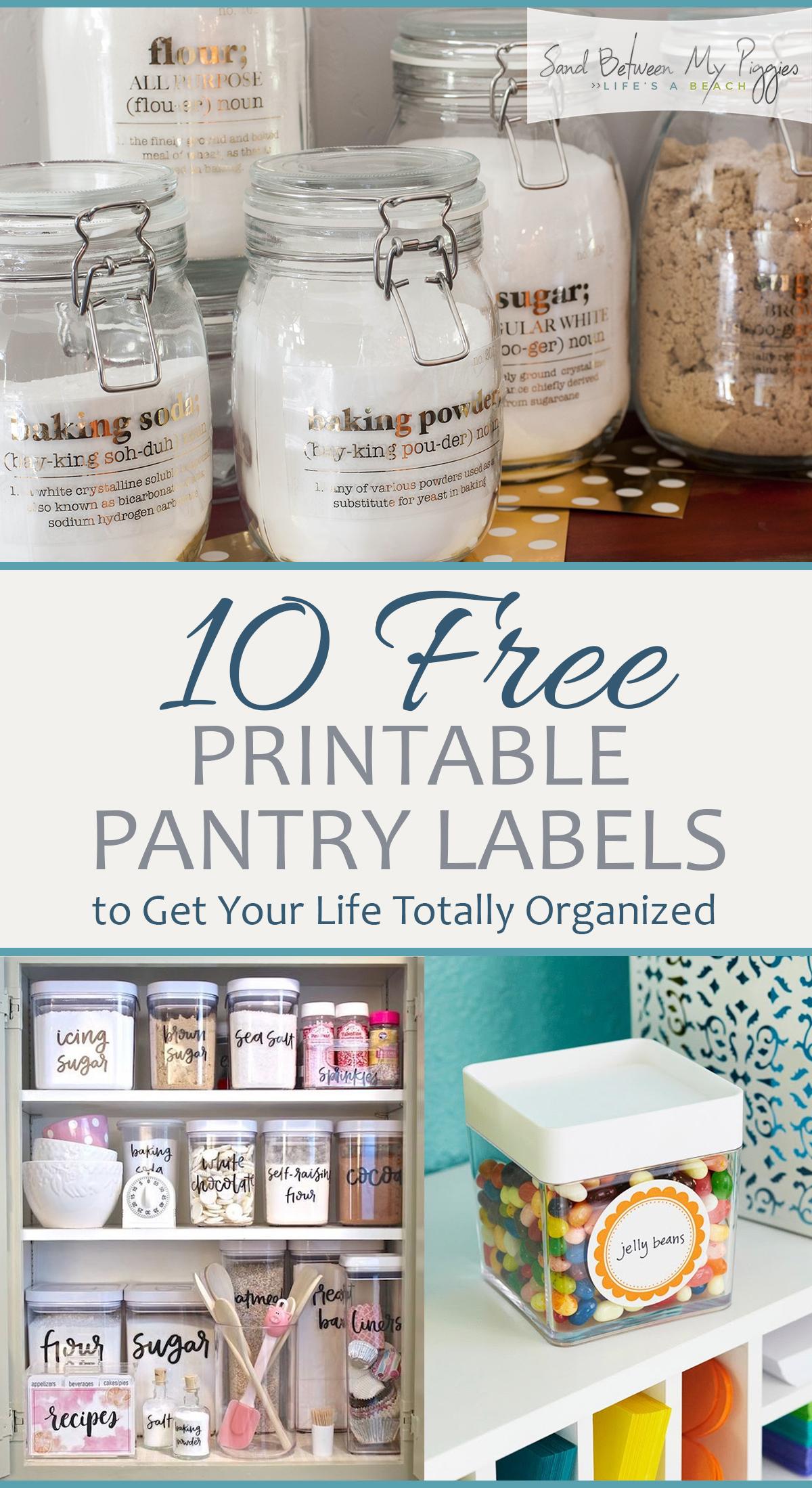 Pantry Labels, Printable Pantry Labels, Printables, Free Printables, Free Organization Printables, Organization, Home Organization Tips, Clutter Free Home, Clutter Free Kitchen