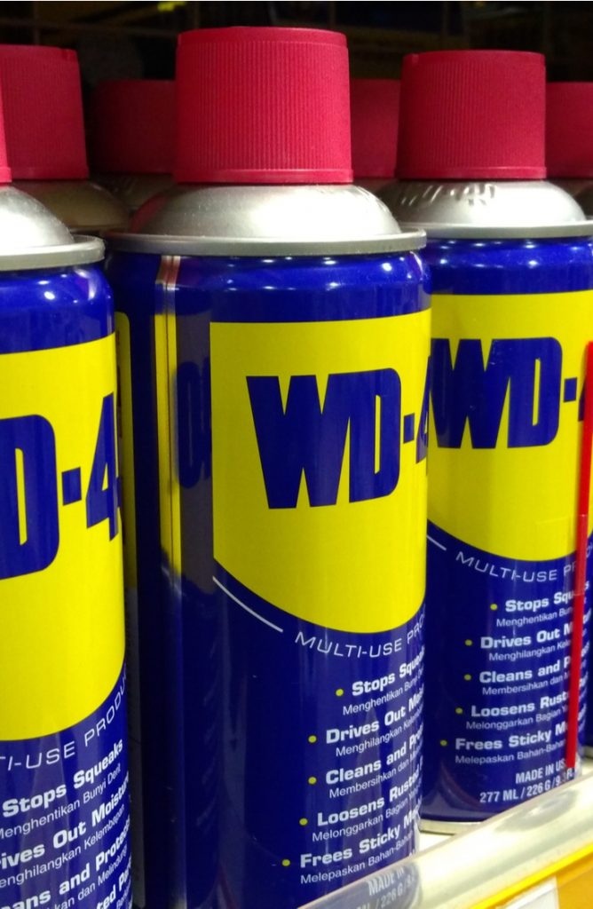 Carpet stains are ugly, slightly embarrassing, and completely awful to remove. Who knew those fuzzies under our feet were so dang absorbent? Use WD-40 to get out crayons that get smashed into the carpet. It works like magic. It's one of the best tips to remove carpet stains!