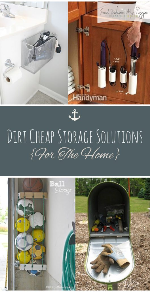 Dirt Cheap Storage Solutions {For The Home} | Cheap Storage For the Home, Home Storage, How to Organize Your Home, Fast Ways to Declutter Your Home, Easy Ways to Organize Your Home, Cheap Ways to Organize, Home Organization, Home Organization Tips and Tricks, Popular Pin