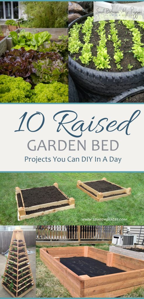 10 Raised Garden Bed Projects You Can DIY In A Day| Raised Garden Bed Projects, Raised Garden Beds, DIY Raised Garden Beds, Gardening, Gardening Projects, Gardening Tips and Tricks for Beginners, Gardening, Gardening Hacks, Popular Pin