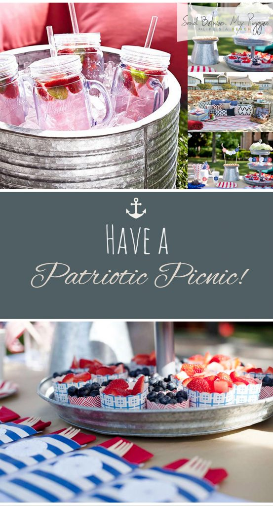 Have a Patriotic Picnic! Patriotic Picnic, Fourth of July Ideas, Fourth of July Party Ideas, Party Ideas, Holiday Ideas, Summer Fun Ideas, Summer Activities, Summer Parties, Fourth of July Parties, Popular Pin