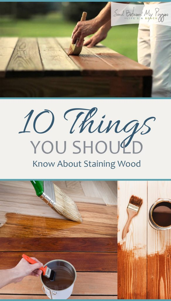 10 Things You Should Know About Staining Wood - How to Stain Wood, Wood Staining Tips, How to Stain Wood, Quick and Easy Ways to Stain Wood, Painting Tips and Tricks, Painting Hacks, Popular Pin