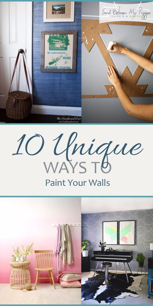 10 unique ways to paint your walls sand between my for Things to paint on your wall
