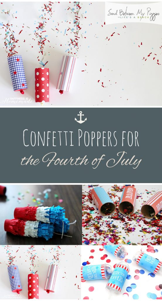 Confetti Poppers for the Fourth of July| Fourth of July Crafts, Crafts for The Fourth of July, Parade Poppers, DIY Confetti Poppers, How to Make Your Own Confetti Poppers, DIY Fourth of July Confetti Poppers.