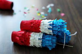 Confetti Poppers for the Fourth of July  Fourth of July Crafts, Crafts for The Fourth of July, Parade Poppers, DIY Confetti Poppers, How to Make Your Own Confetti Poppers, DIY Fourth of July Confetti Poppers.