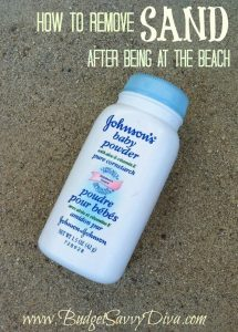 The Simple Way to Remove Sand From Your Skin| How to Remove Sand From Your Skin, Beach Vacation, Beach Vacation Hacks, Beach Vacation Tips and Tricks, How to Use Baby Powder to Get RId of Sand, Popular Pin