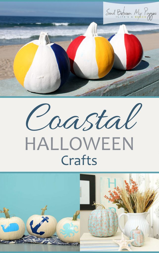 Coastal Crafts for Halloween, Crafts for Halloween, Halloween Crafts, Coastal Home Decor, Coastal Holiday Decor, Coastal Crafts for the Home, Easy Coastal Crafts, DIY Halloween, Halloween Decor, DIY Halloween Decor