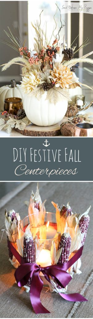 DIY Festive Fall Centerpieces| Fall Centerpiece Projects, Fall Centerpieces, DIY Fall Centerpieces, Fall Home Decor, DIY Home Decor, DIY Fall Decor, Easy to Make Fall Centerpieces, Popular Pin
