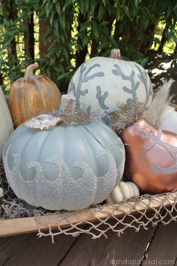 Coastal Fall Decor, DIY Fall Decor, Coastal Halloween Decor, Halloween Decor from Coastal Home, Coastal Home Decor for Fall, Fall Holiday Decor, Autumn Decor for Coastal Homes, DIY Halloween