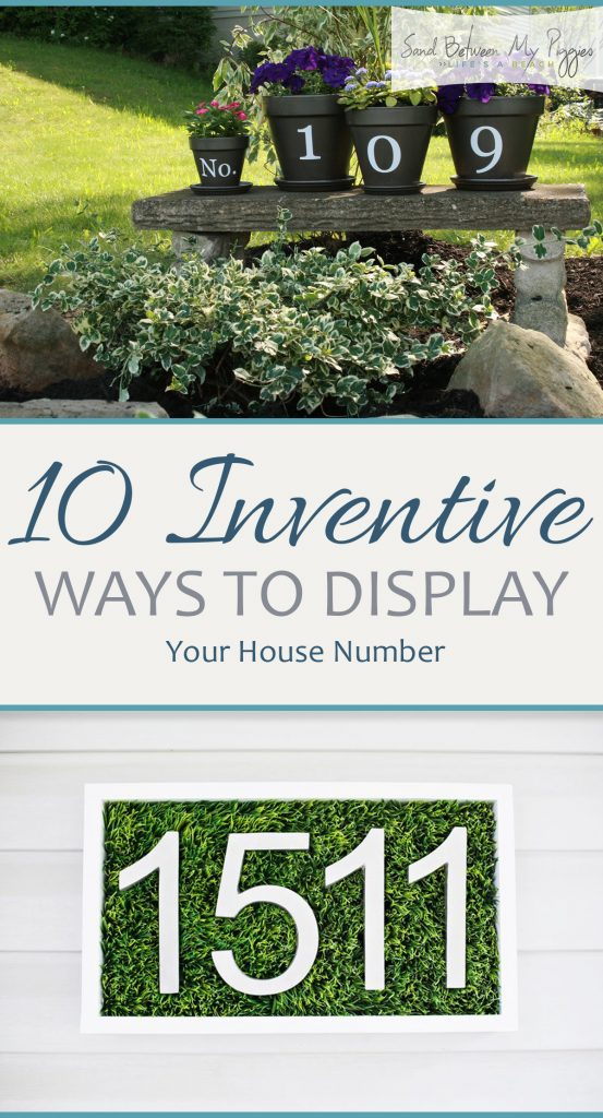 10 Inventive Ways to Display Your House Number| How to Display Your House Number, House Number DIY projects, Curb Appeal Projects, How to Revamp Your Curb Appeal, House Number Projects, House Number Display Projects, Popular Pin