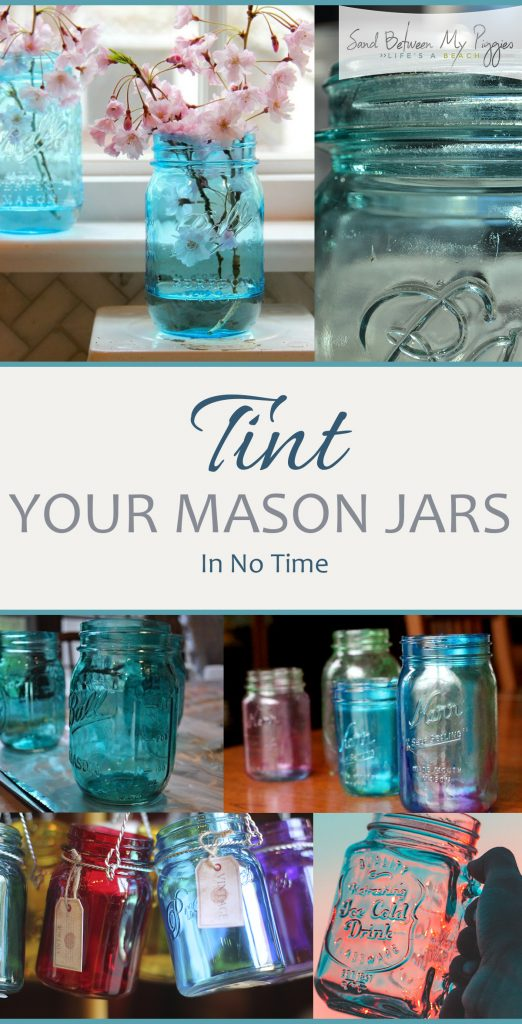 Tint Your Mason Jars In No Time| Mason Jars, Mason Jar Crafts, Tinted Mason Jars, How to Tint a Mason Jar, Tinted Mason Jar Crafts, Crafts, DIY Home, DIY Mason Jar. #MasonJar #MasonJarCrafts #TintedMasonJars #DIYMasonJar
