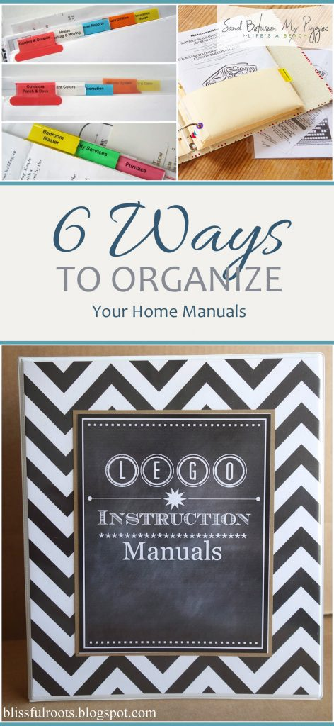 6 Ways to Organize Your Home Manuals| Home Organization, Home Organization Hacks, Organize Your Home, Organize Paper Clutter, Get Rid of Paper Clutter, Organized Life #PaperClutter #Organization #HomeOrganization #QuickHomeOrganization