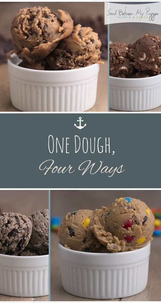 One Dough, Four Ways| Cookie Dough, Cookie Dough Recipes, Recipes, Holiday Recipes, Cookie Dough DIYs, Popular Pin #CookieDough #CookieDoughRecipes #HolidayRecipes