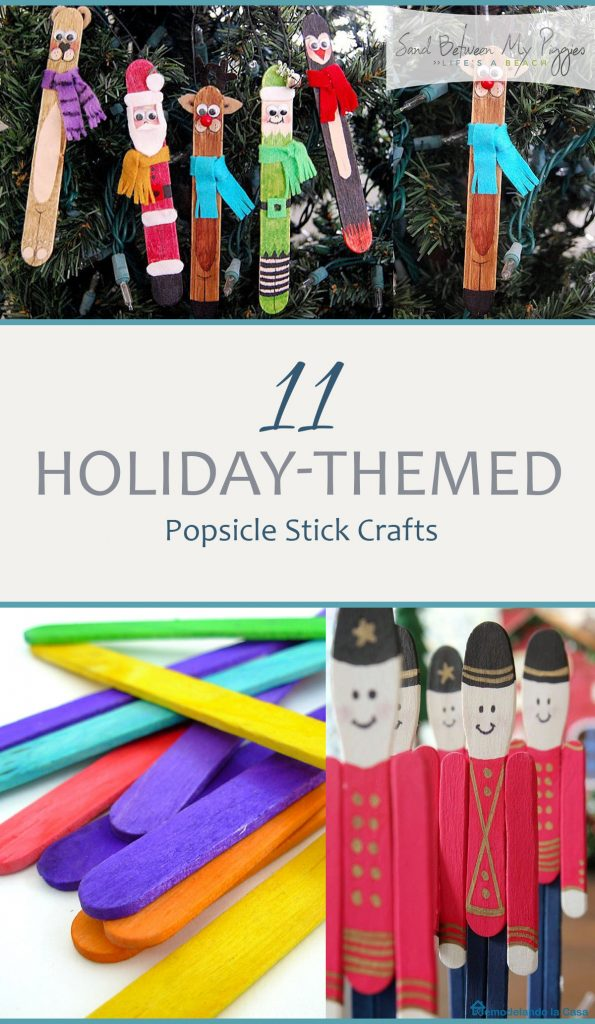 11 Holiday-Themed Popsicle Stick Crafts| Holiday Crafts, Holiday Crafts for kids, Kid Stuff, Easy Crafts, Easy Crafts for Kids, Holiday Themed Crafts, Popular Pin #KidStuff #HolidayCrafts