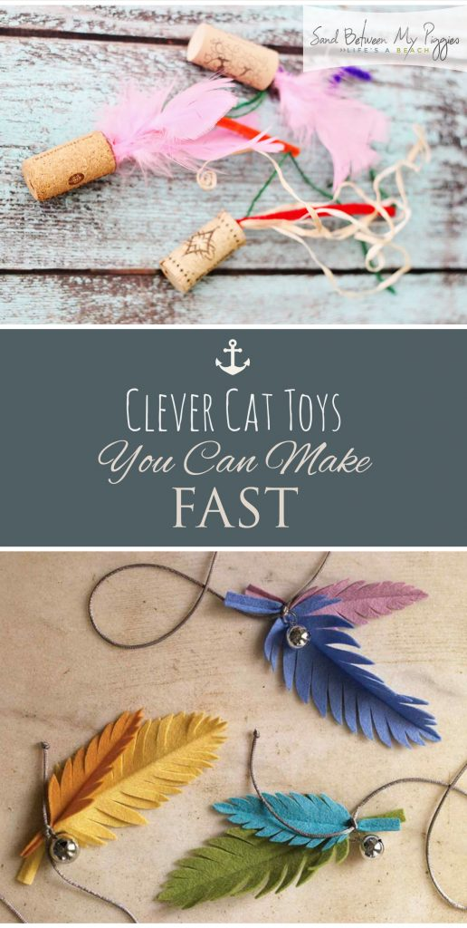 Clever Cat Toys You Can Make FAST| Cat Toys, DIY Cat Toys, Homemade Cat Toys, Cat Toy Projects, Animal Projects, DIY Projects, Popular Pin #CatToys #DIYCatToys