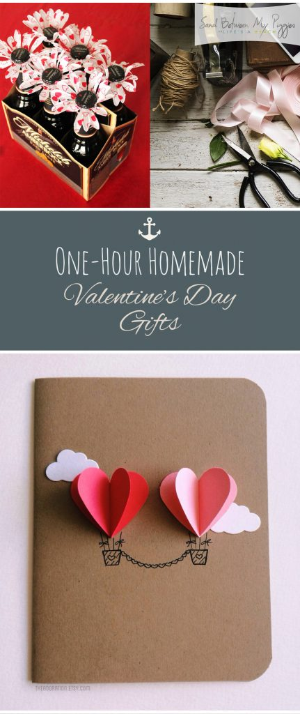 One-Hour Homemade Valentines Day Gifts| Valentines Day Gifts, Gift Ideas, Cheap Valentines Day Gifts, Holiday Gifts, Fast Gift Ideas, Fast Gifts for Valentines Day #ValentinesDay #GiftIdeas