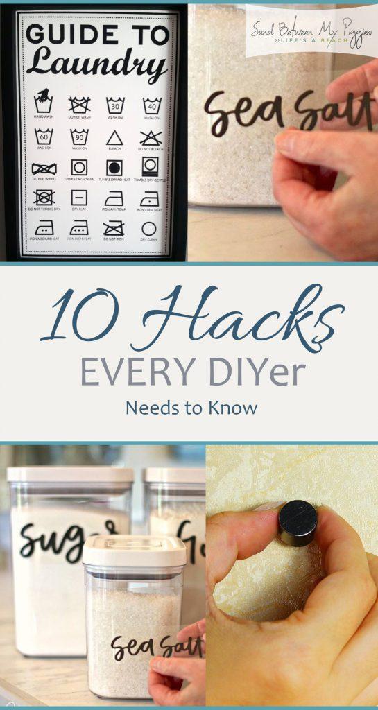 10 Hacks Every DIYer Needs to Know| Home Hacks, DIY Hacks, DIY Hacks for the Home, DIY Home Improvement, Home Improvement Hacks, Home Improvement DIYs, DIY Home, DIY Home, Kitchen Hacks, Cooking Hacks, Organization Hacks #HomeImprovement #Hacks #DIYHacks