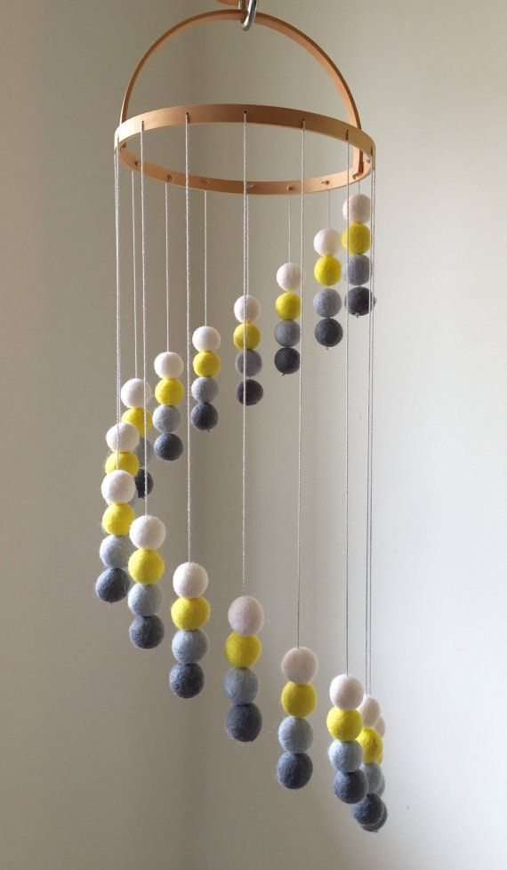 Make one of these genderless baby mobiles at any point in your pregnancy!  Baby Mobiles, DIY Baby, DIY Baby Mobiles, Baby, DIY Baby, DIY Nursery, Baby Nursery, Baby Nursery Ideas #Baby #BabyMobiles
