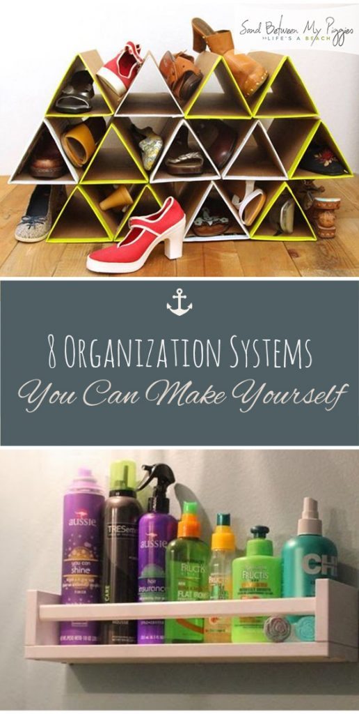 8 Organization Systems You Can Make Yourself| Organization, DIY Organization, Home Organization, Home Organization Ideas, Organization Ideas for the Home, Organization DIY, Organization Hacks
