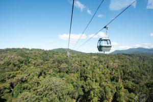skyrail rainforest in the wet Tropics of Queensland