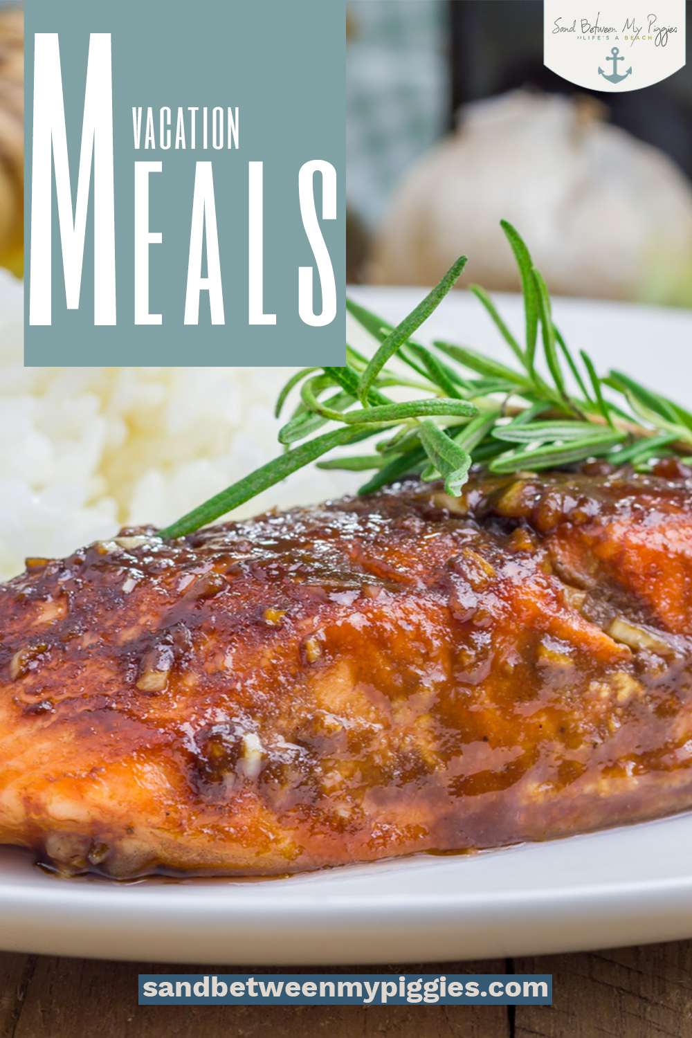 The best part about vacationing is all of the good food, but it can be expensive to eat out. Fortunately, this list of easy vacation meals that take practically no time at all will keep your bellies fed fast so you can go back to relaxation. #vacationmeals #sandbetweenmypiggiesblog #food