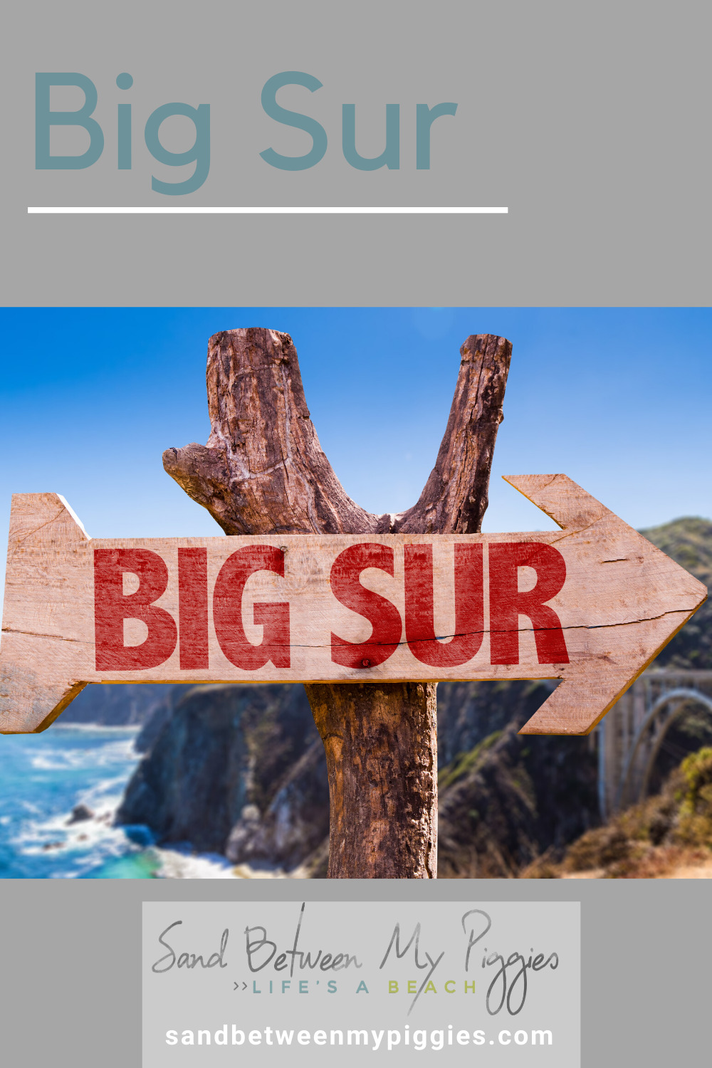 If you are a fan of dramatic coastline views with steep cliffs and rolling green hills, Big Sur is calling your name. Add it to your list of must-see places on the West Coast. #coastaltowns #coastalvacations #bigsur #california #sandbetweenmypiggiesblog