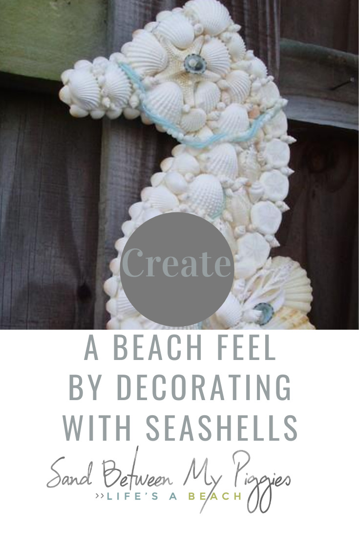 So what do you do with all those seashells that Suzy has been selling by the seashore? Make some awesome seashell crafts, that's what! #sandbetweenmypiggiesblog #seashells #beachdecor