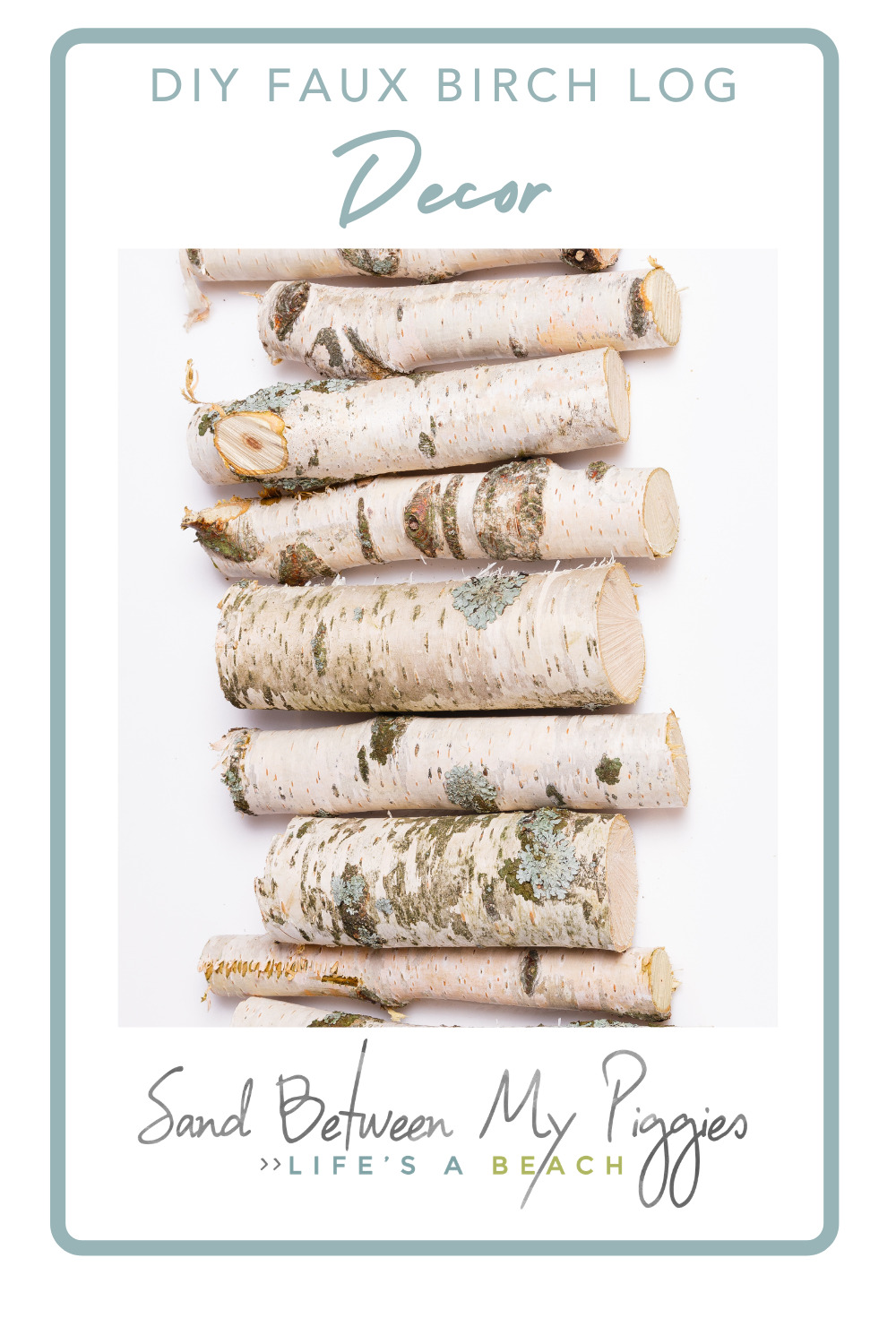 Sandbetweenmypiggies.com is loaded with  fun and easy DIY projects that will look great in your home! Avoid the mess of real wood and get the same cozy feeling with these DIY faux birch logs!