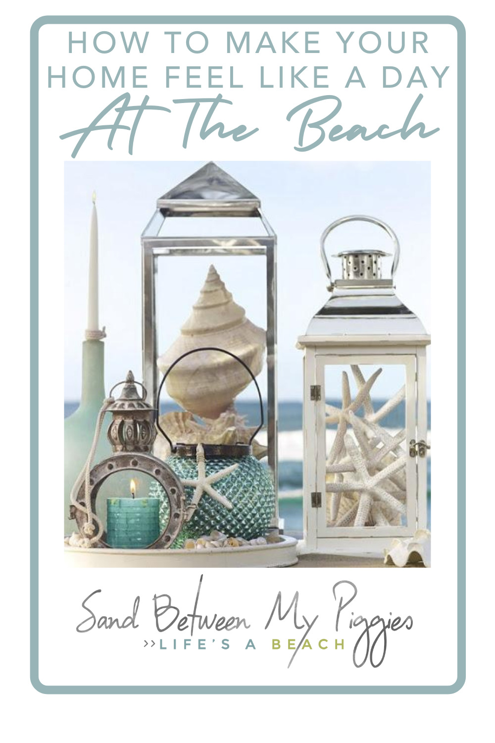 Sandbetweenmypiggies.com will bring relaxed, beachy vibes into your everyday life. Find out how you can kick back in everything you do. Bring that same energy into your home decor with these ideas.