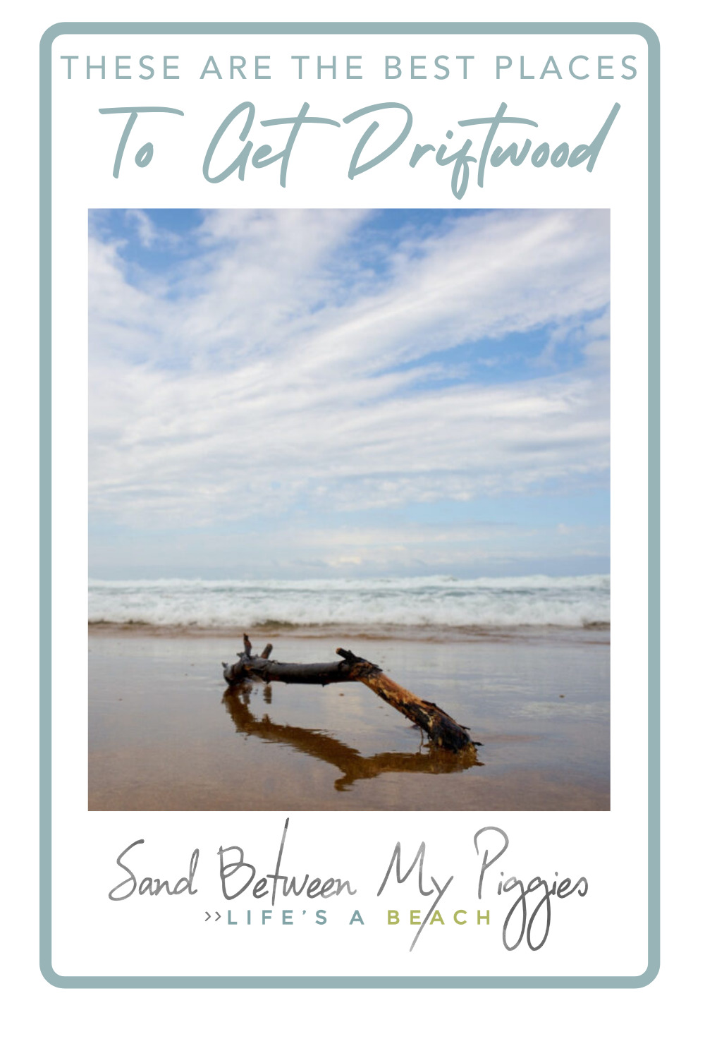 Sandbetweenmypiggies.com will add a touch of relaxation to every aspect of your life. From travel to decor, always feel like you're having a beach day! Check out these places you should buy driftwood from for a gorgeous, beachy feel.