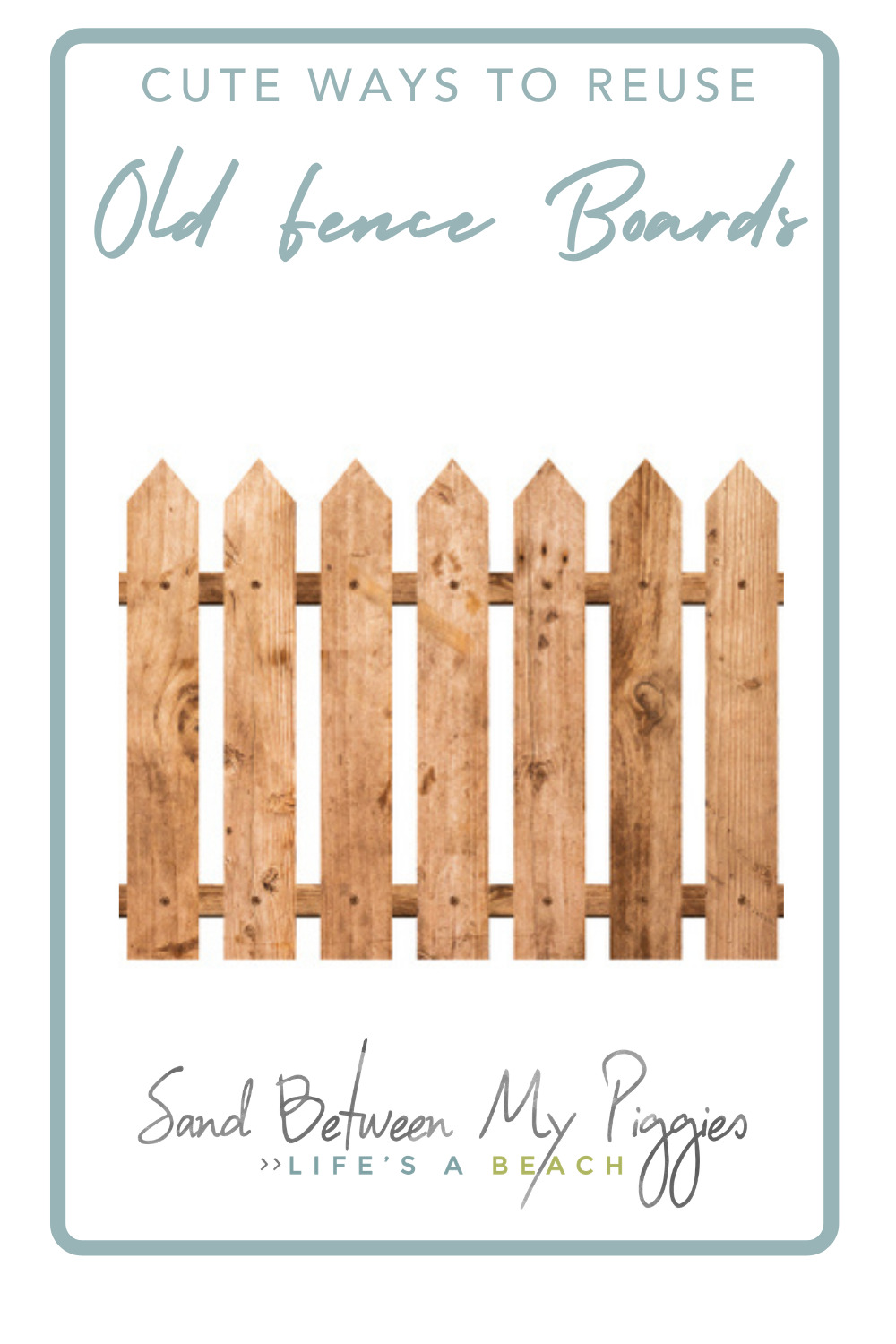 Sandbetweenmypiggies.com is the best place to find cozy, beachy DIY projects. Find creative ways to make things all on your own. Try out these creative ideas for repurposing old fence boards!