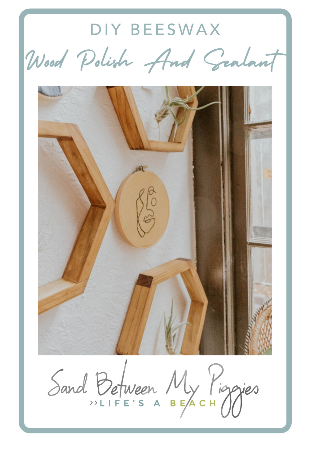 Sandbetweenmypiggies.com is the best place to find cozy, beachy DIY projects. Find creative ways to make things all on your own. Try out this simple DIY beeswax wood polish and sealant!