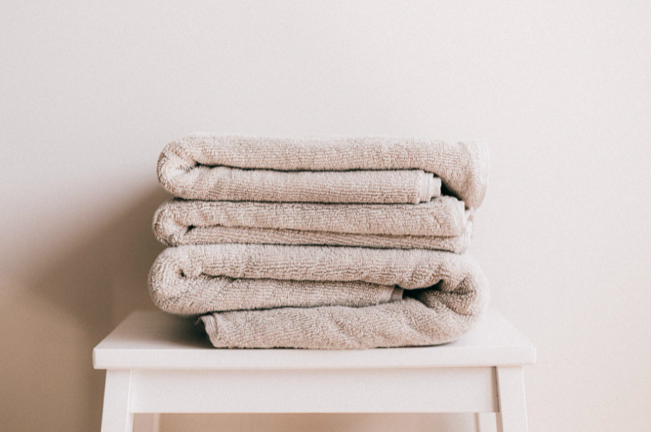 Recycle old towels - Make them a washcloth