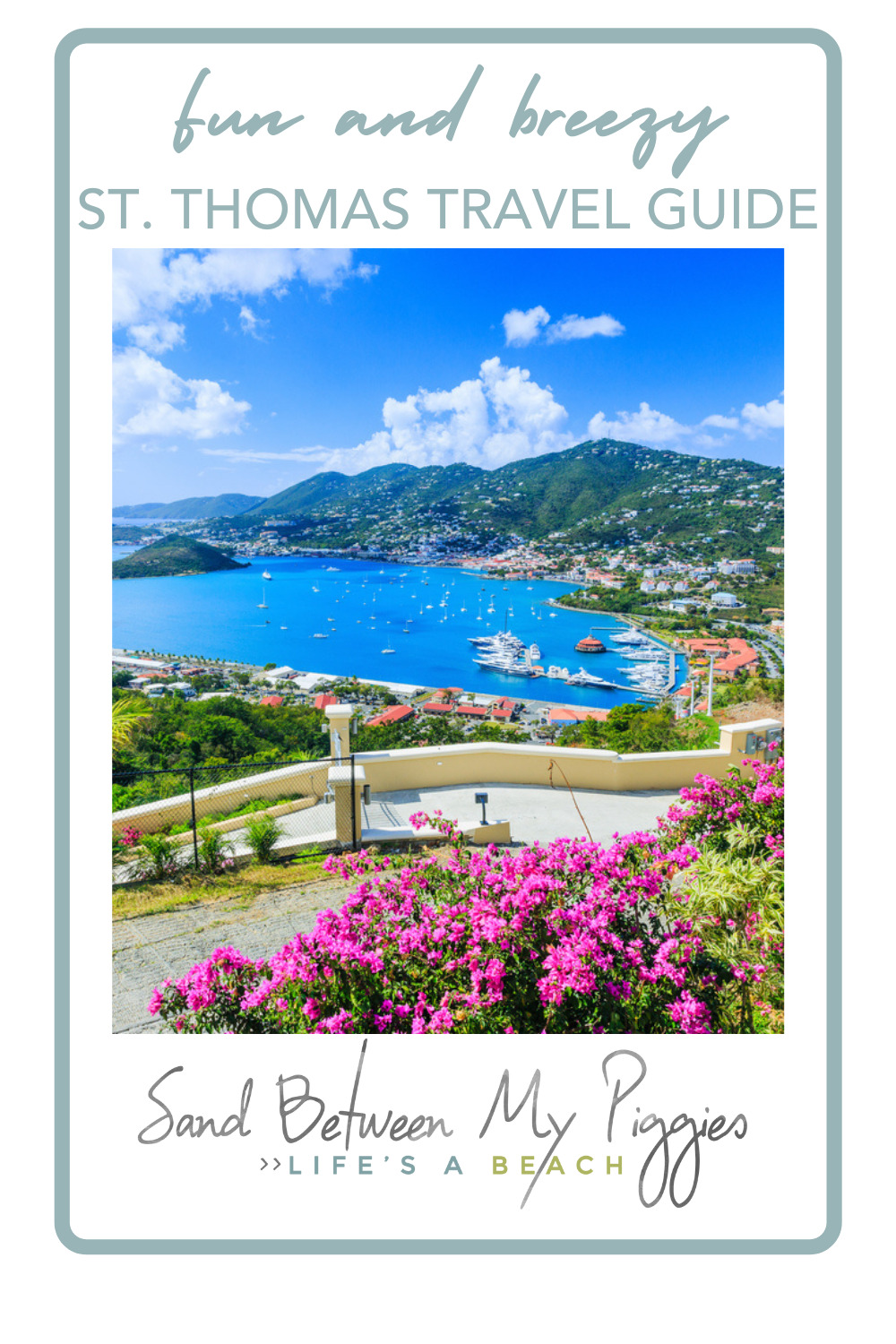 Sandbetweenmypiggies.com is all about the good life. Take a deep breath with travel and beach inspired ideas. Take a relaxing trip to beautiful St. Thomas. Find out all of the things you need to see and do in the Virgin Islands!
