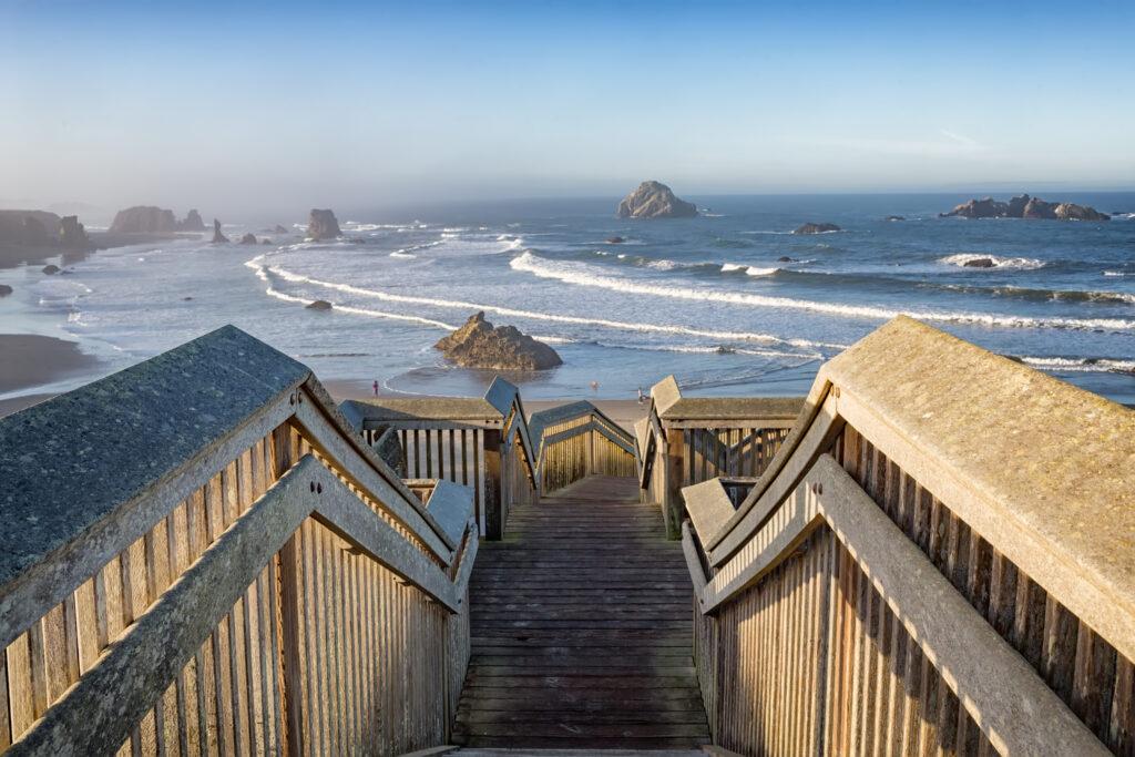 Oregon Coast famous for its beautiful locations